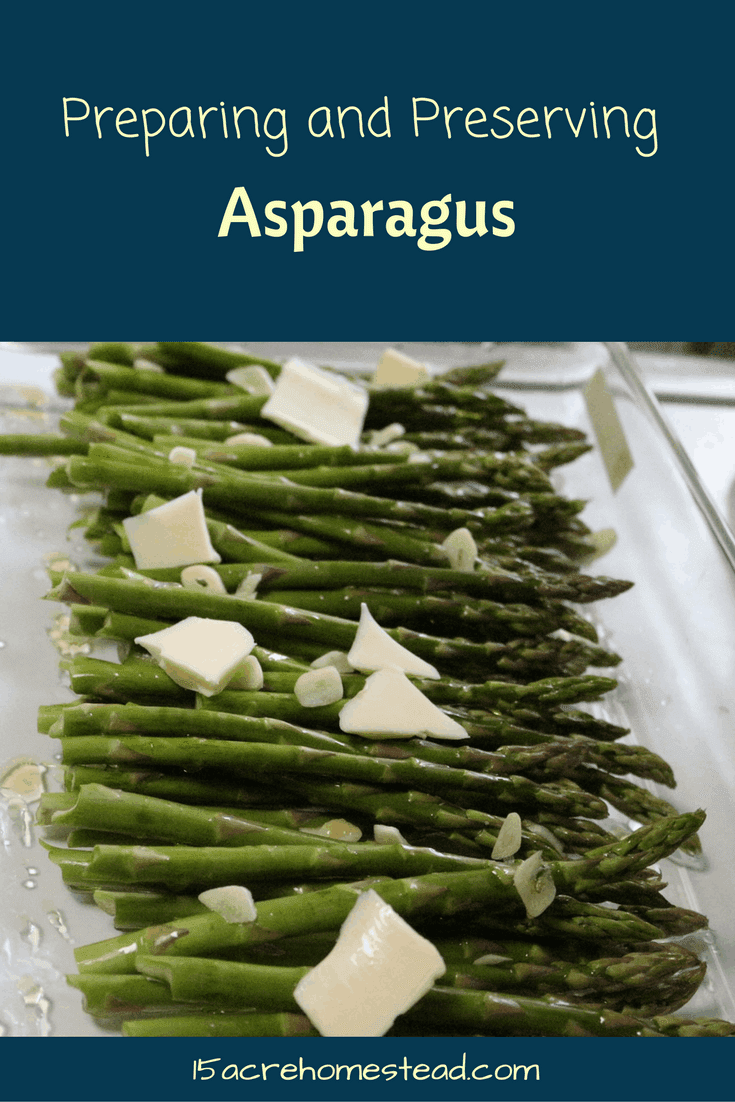 Preparing and preserving asparagus is a simple homesteading task.