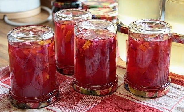 upside down jam jars