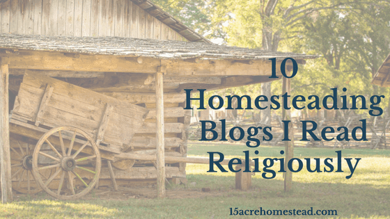 10 Homesteading Blogs I Read Religously