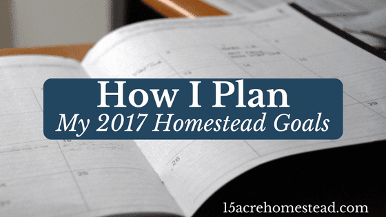 How I Plan My 2017 Homestead Goals