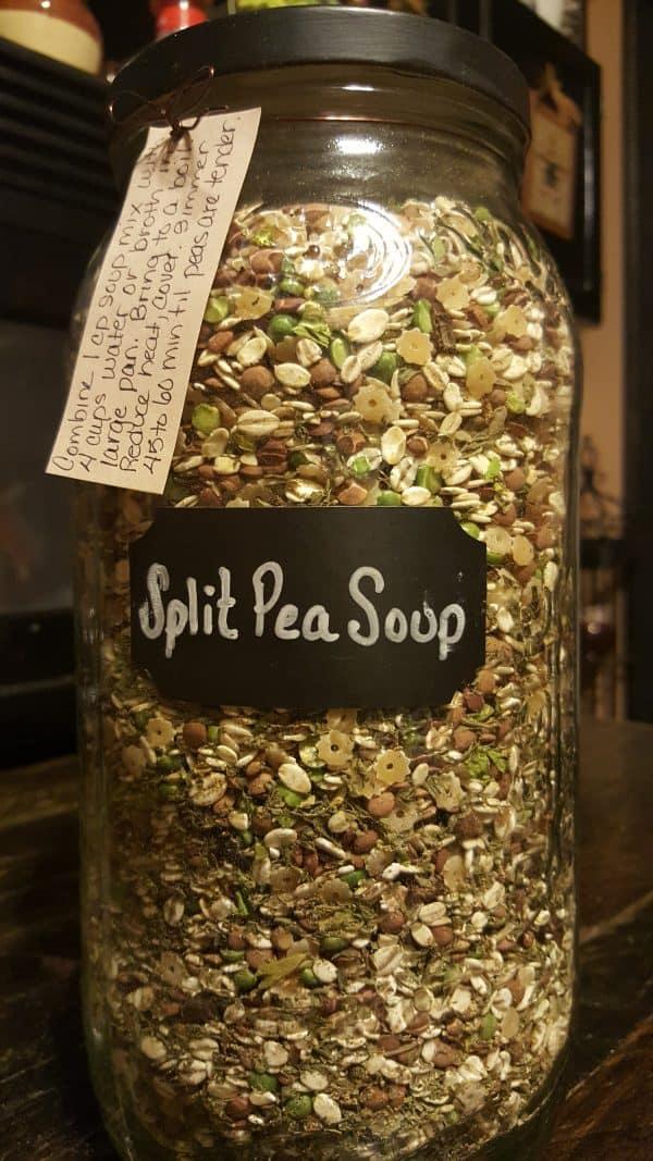 Split Pea Soup Mix in a Jar