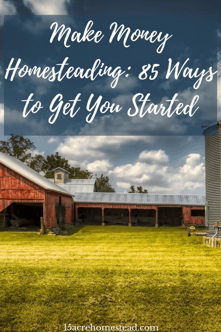 make money homesteading.