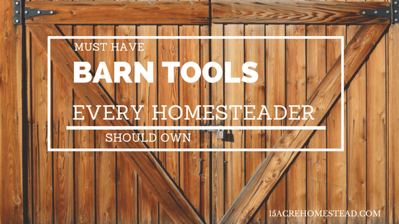 Must Have Barn Tools Every Homesteader Should Own