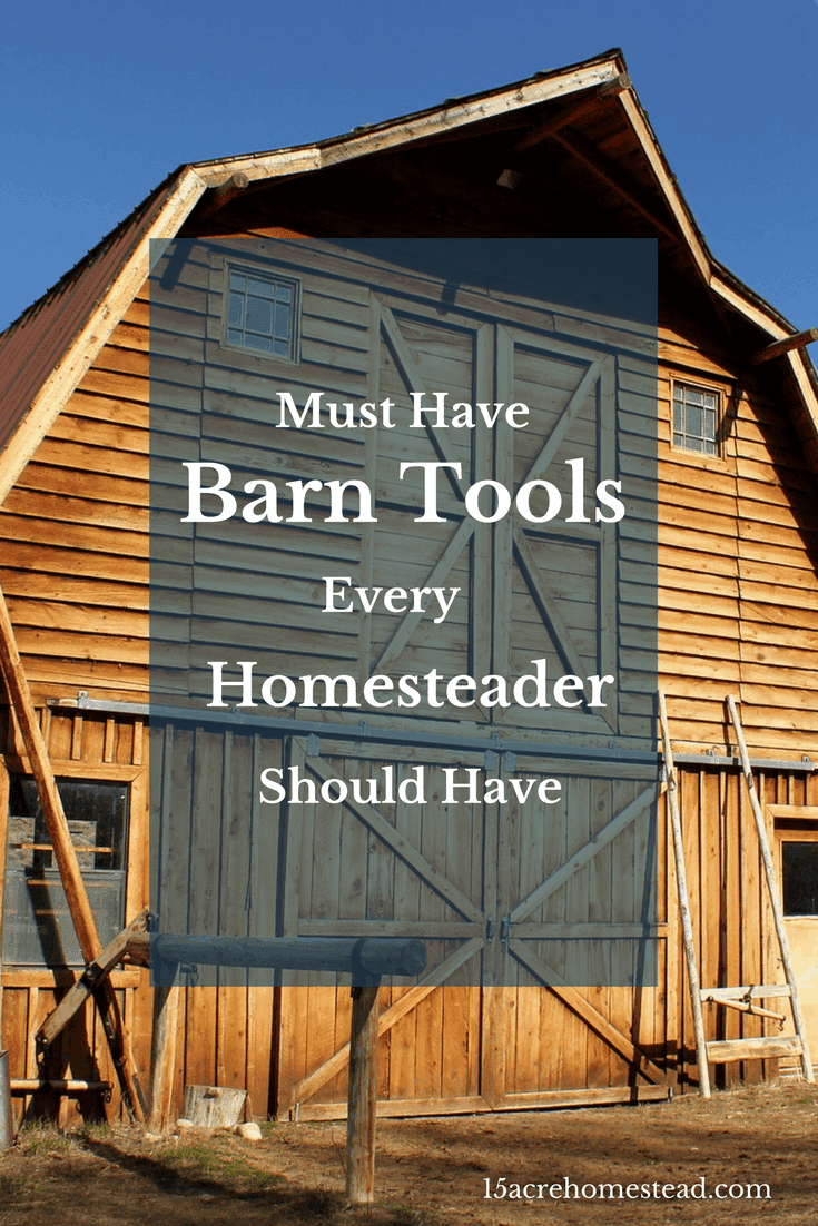 Every homesteader should own these tools for the barn.