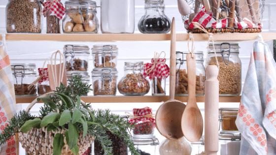 organized pantry shelves