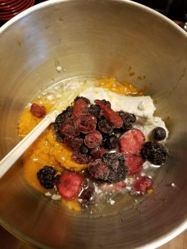 Frozen berry pumpkin treats ingredients