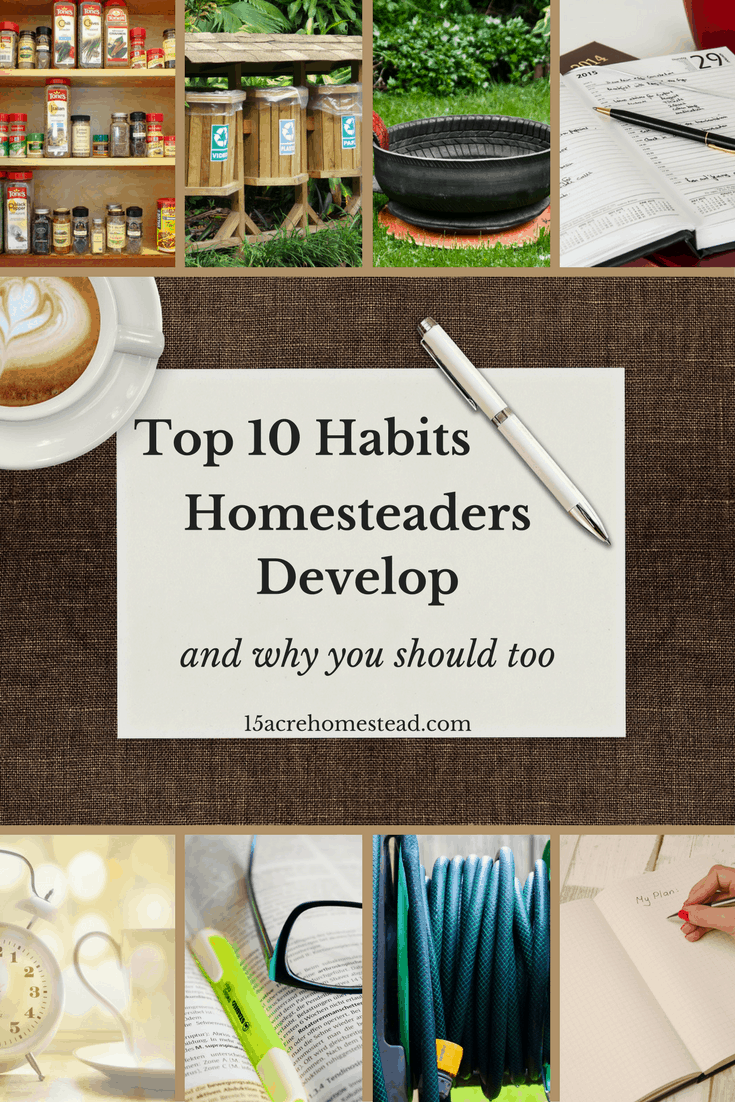 There are some important habits you should develop if you want to be a homesteader.