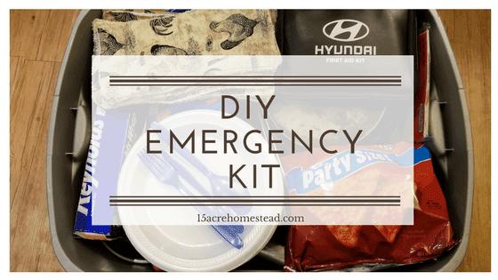 My Diy Emergency Kit What S In It 15 Acre Homestead