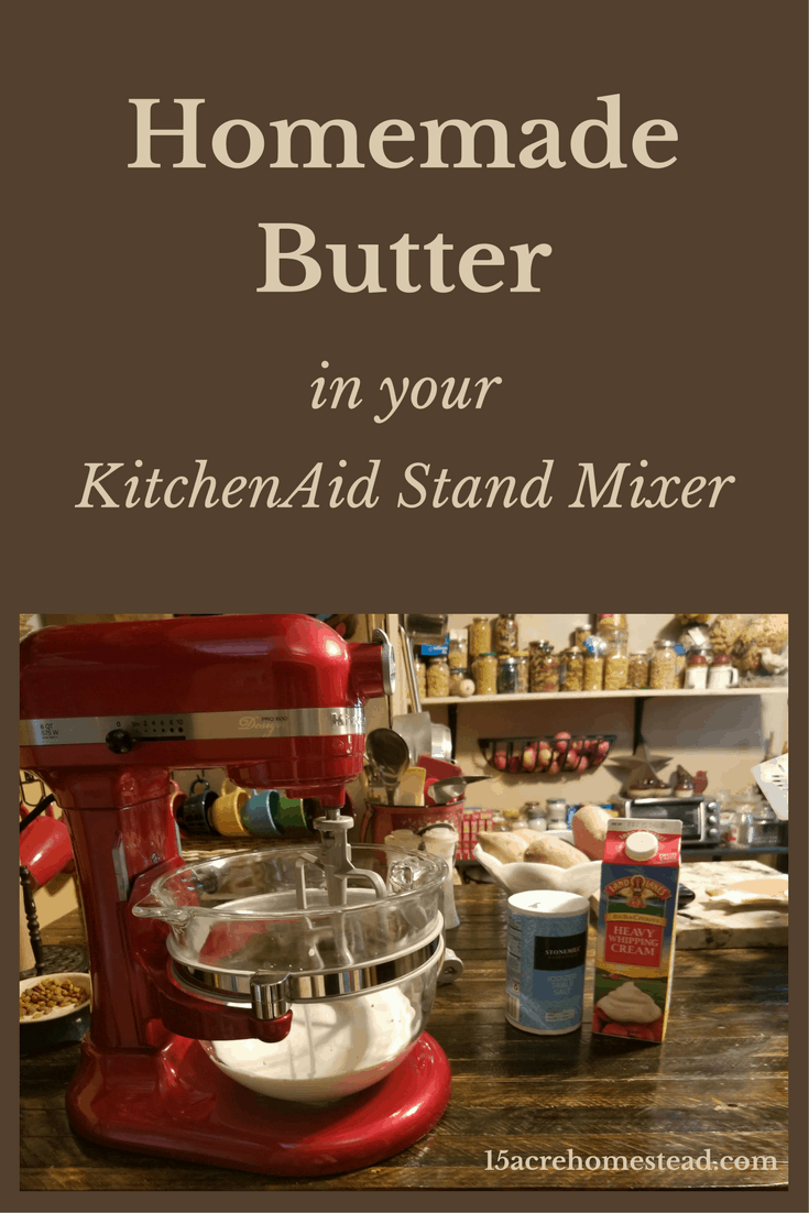 Making homemade butter in your KitchenAid Stand Mixer is so easy!