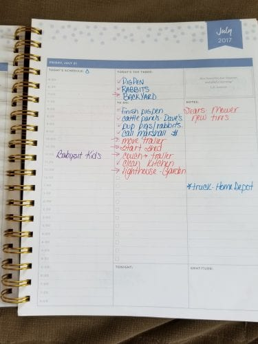 homestead planner inside page