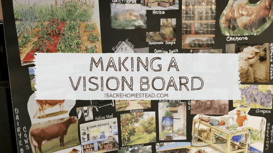 making a vision board