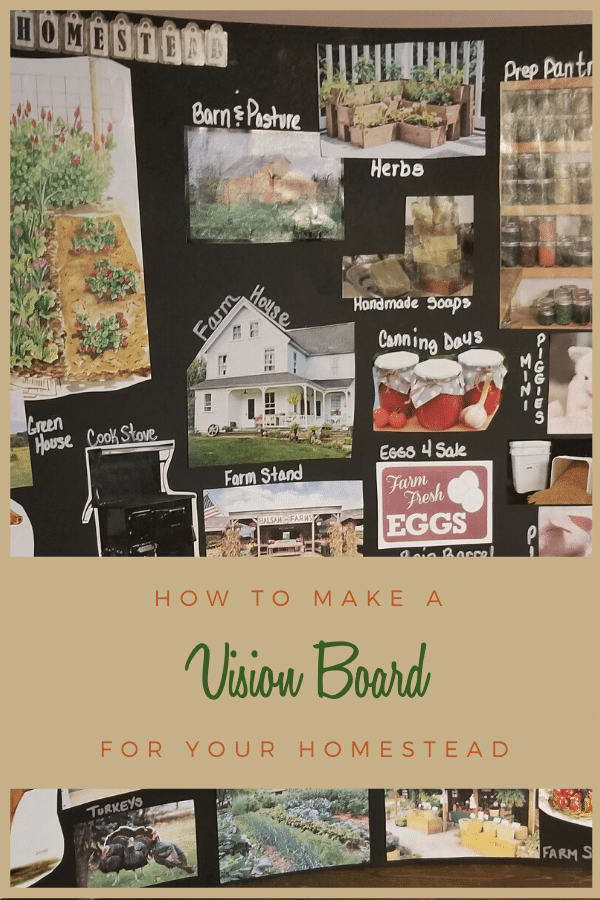 Every homestead needs a vision board! Learn how to design your own vision board step by step today!