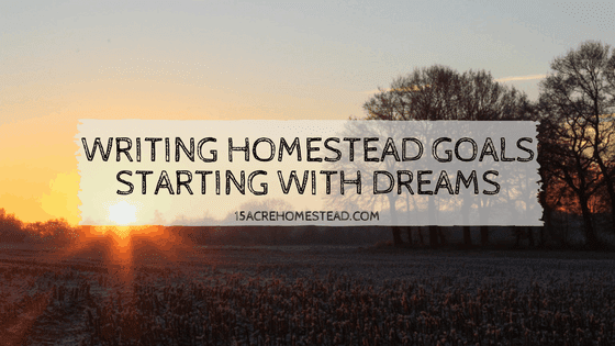 Writing Homestead Goals: Starting with Dreams