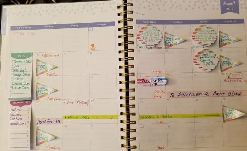 homestead planner monthly filled