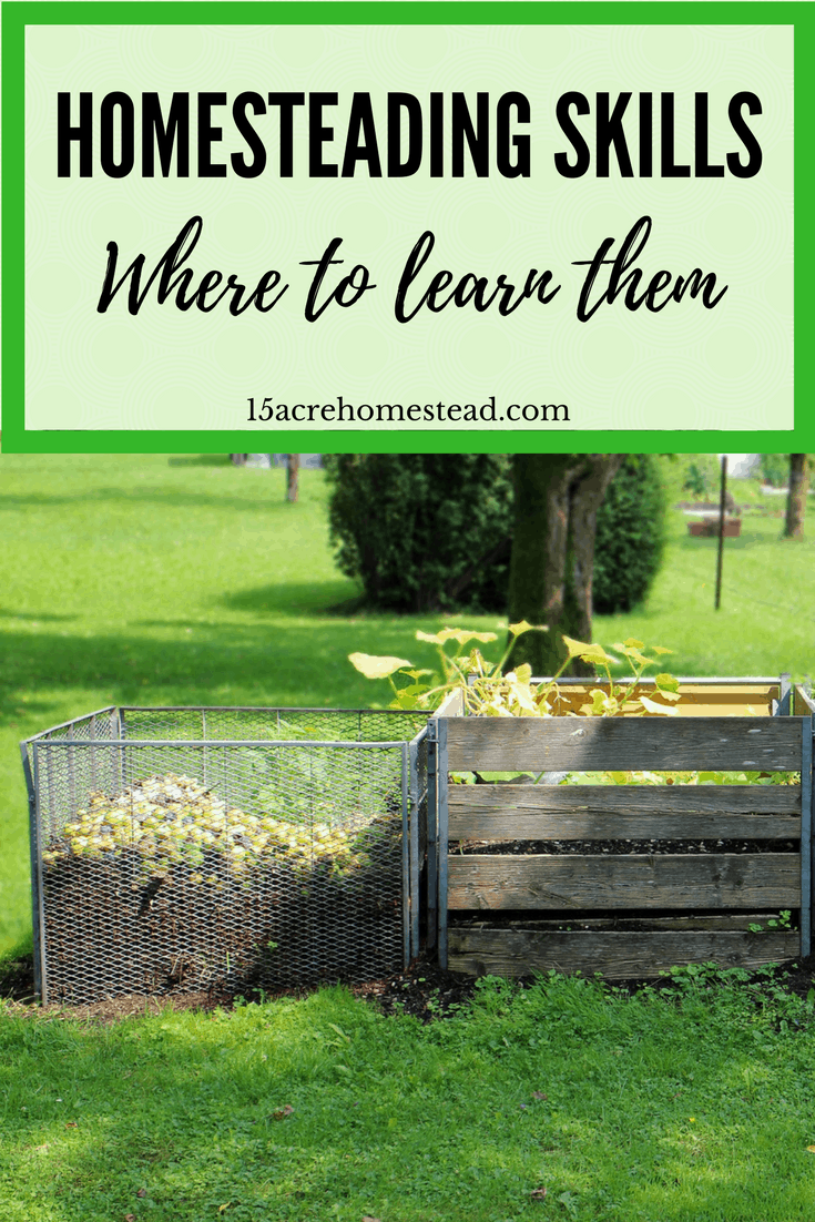 Learning homesteading skills are necessary when you want a productive homestead. This list gives resources to get you started learning today.