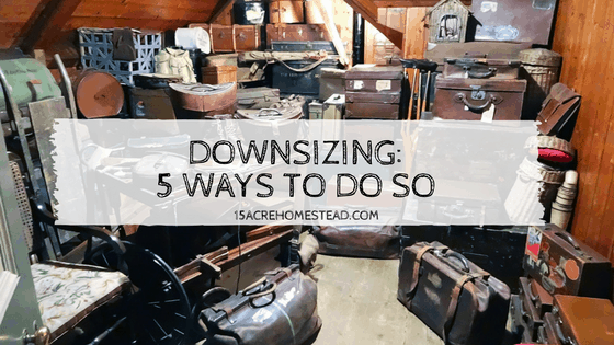 Downsizing: 5 Ways To Do So