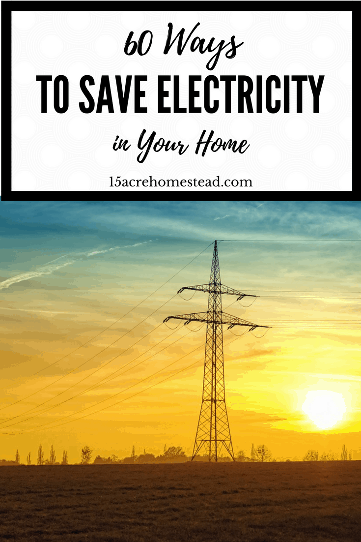 Find over 60 ways to save electicity in your home.