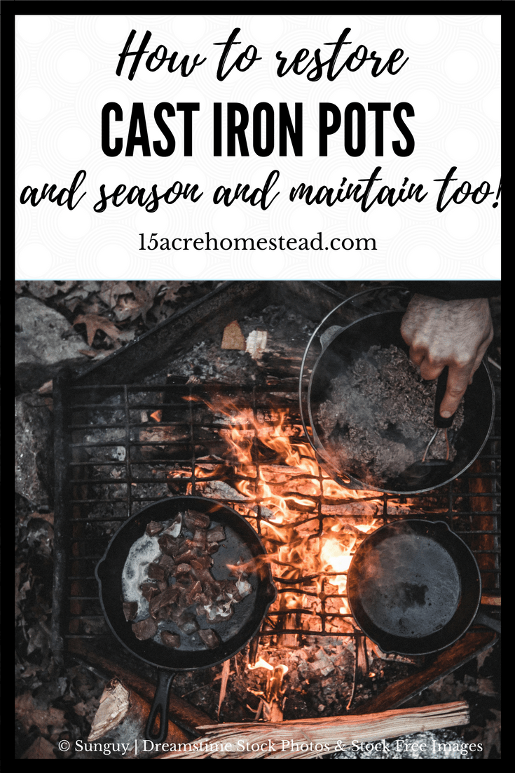 Cast iron pots are great to cook with and easy to maintain if you know how to do it. There a few ways of taking care of your cast iron pots the right way.