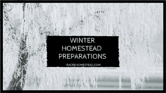 Winter homestead preparations for the inside on the homestead.