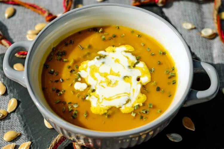 Pumpkin recipe roundup from around the web including pumpkin soup.