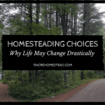 Homesteading Choices: Why Life May Drastically Change
