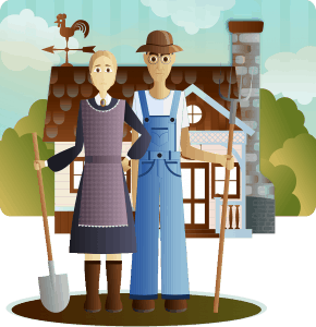 you might be a homesteader if: farmer couple