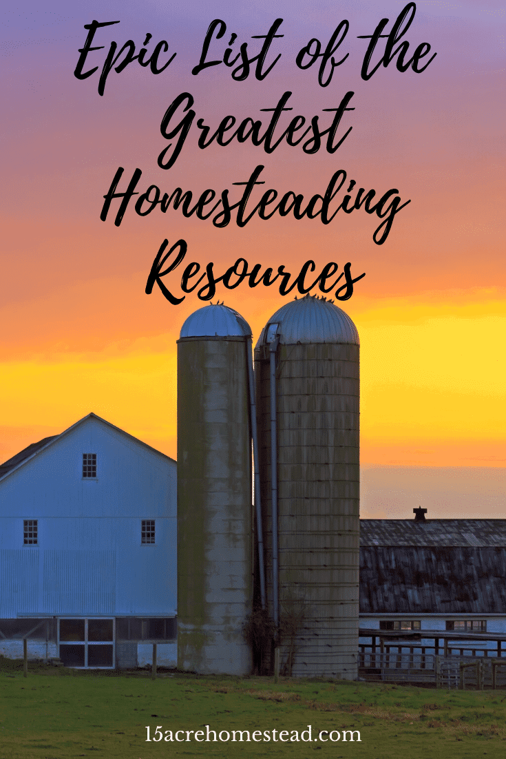 An epic list of the best homesteading resources for those new to the idea of starting a homestead but feels overwhelmed by the amount of information available. Find reliable and helpful information to help your homesteading journey get off to a successful and stress-free start.