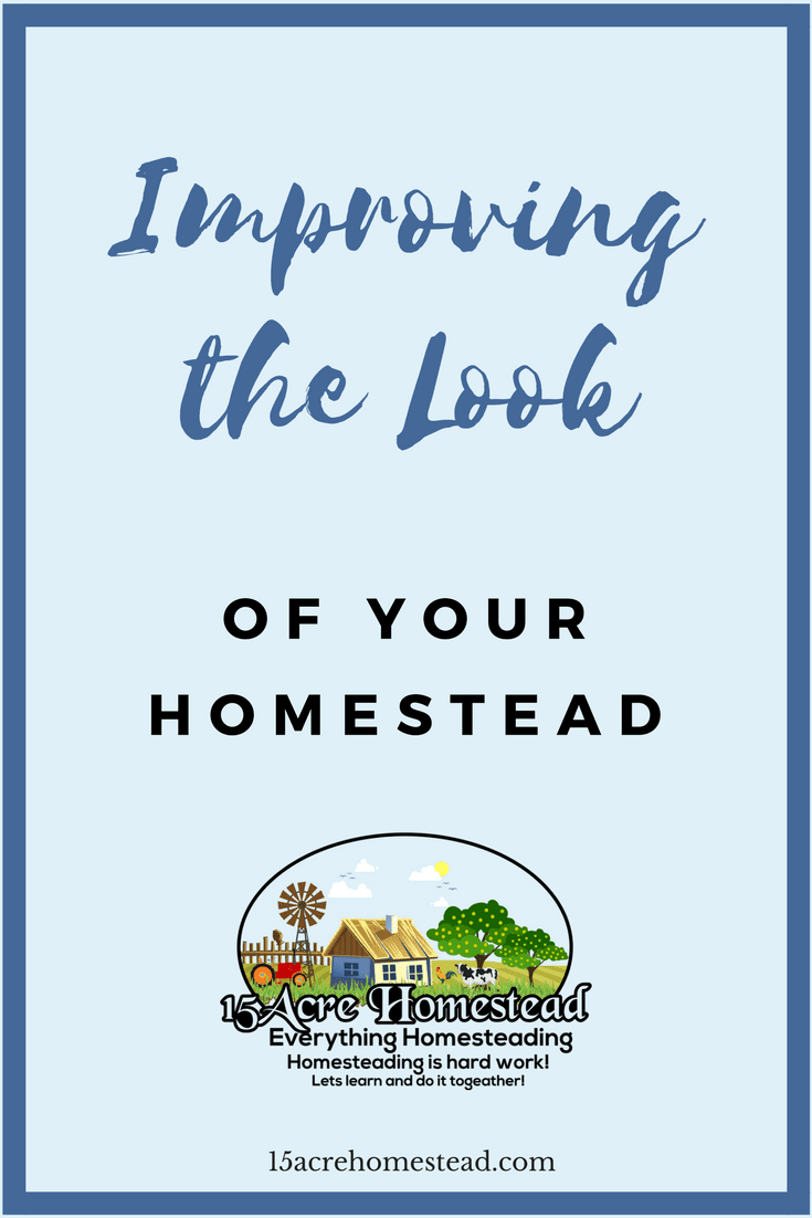 There are many ways of improving the look of your homestead from paint, to fencing to adding flowers and livestock.