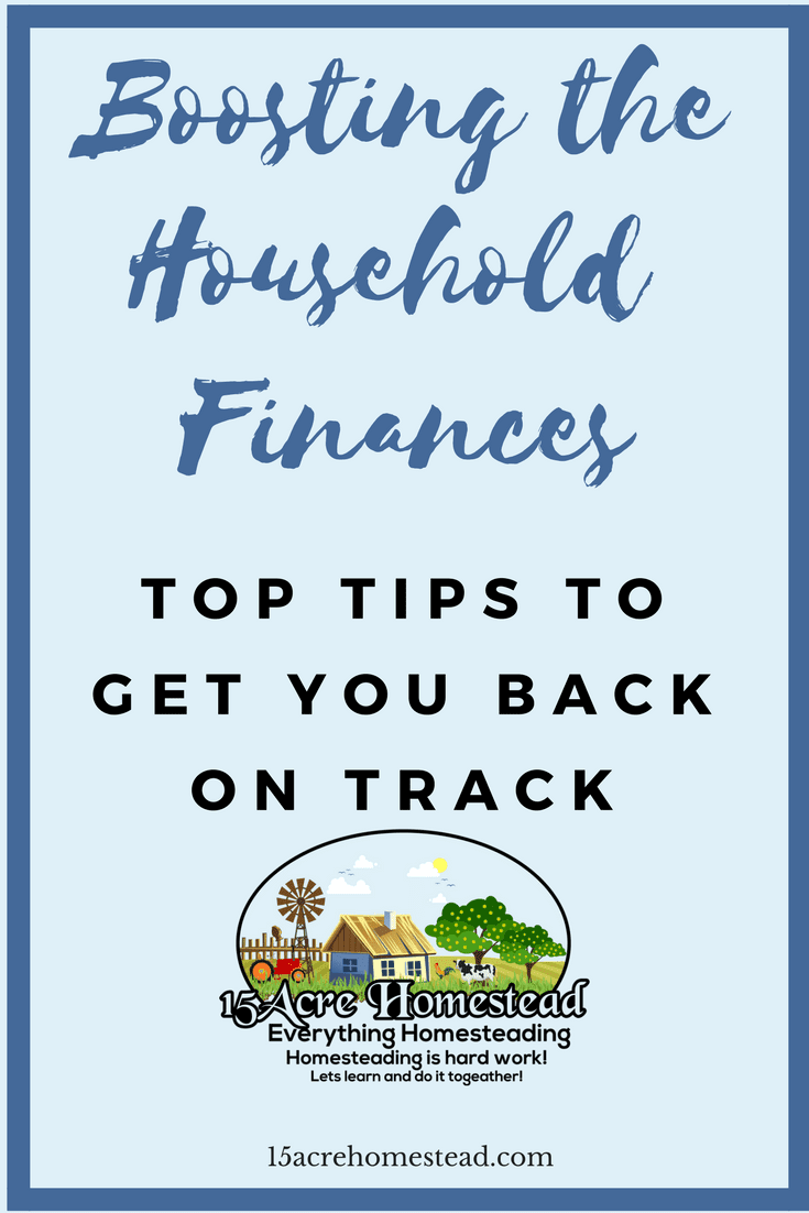 These are some great tips to getting your household finances back on track.