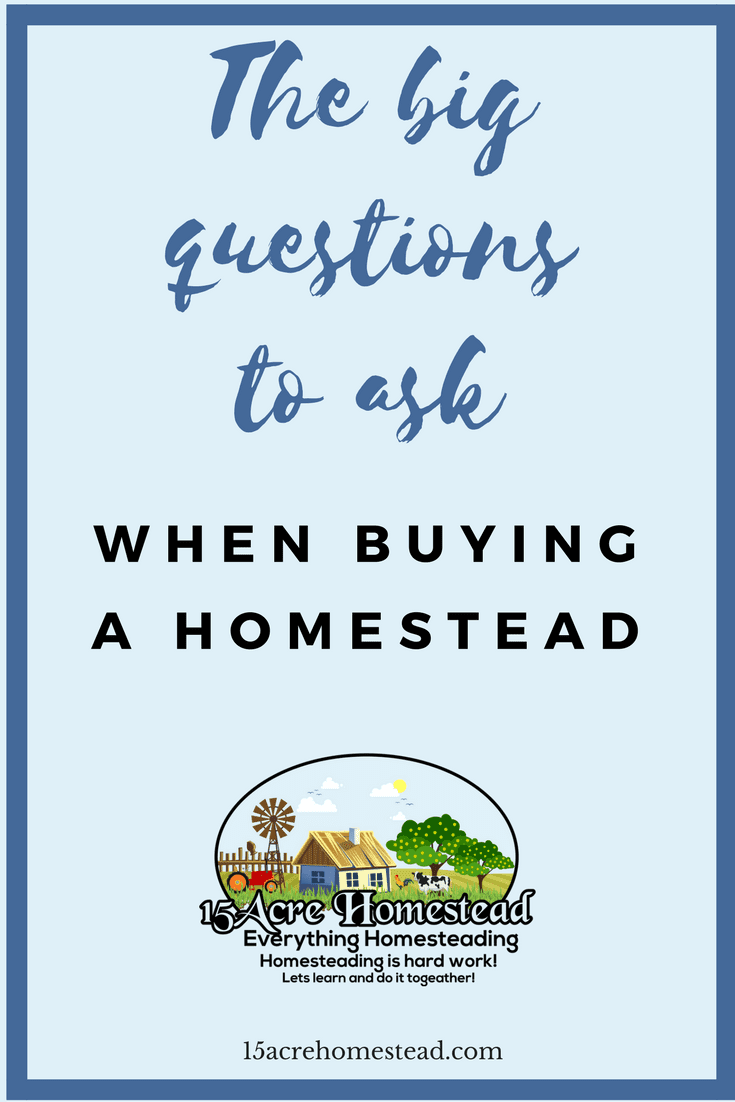 These are the important questions you should be asking when buying a homestead.