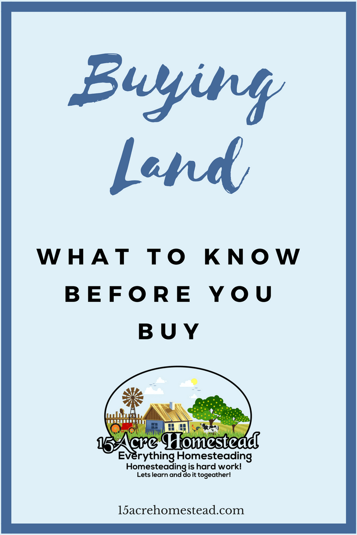 When buying land there are few key things you should know before time.