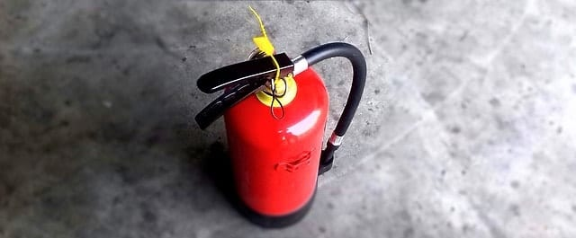 Having an extinguisher on hand is one way of keeping your tiny house safe from fire.