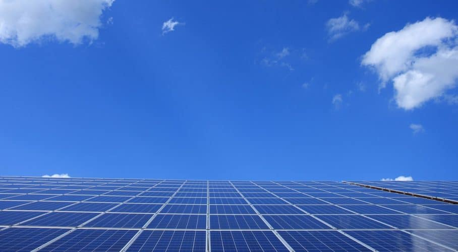 Enery efficiency in the home can be increased by the use of solar panels.