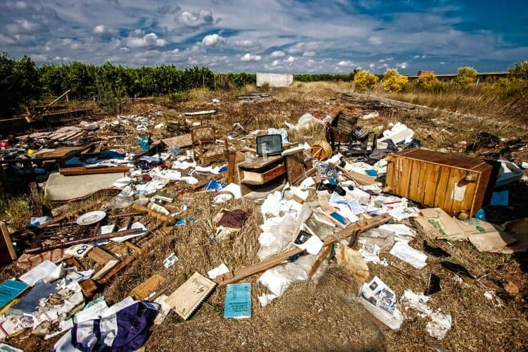 Eliminating trash can help provide a waste-free homestead.