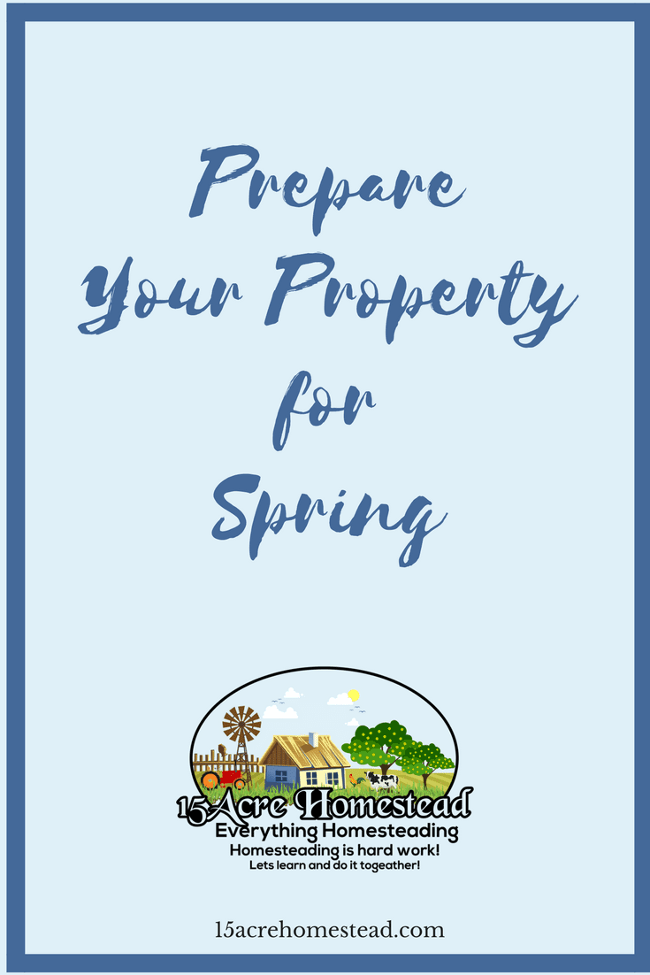 Prepare your property for Spring before it get's here.