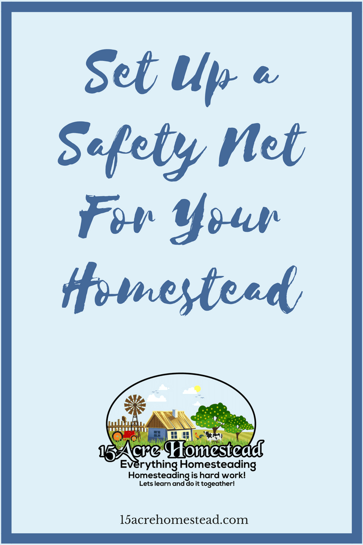 Setting up a safety net for your homestead can keep you prepared for emergencies and the unexpected issues that arise while homesteading.