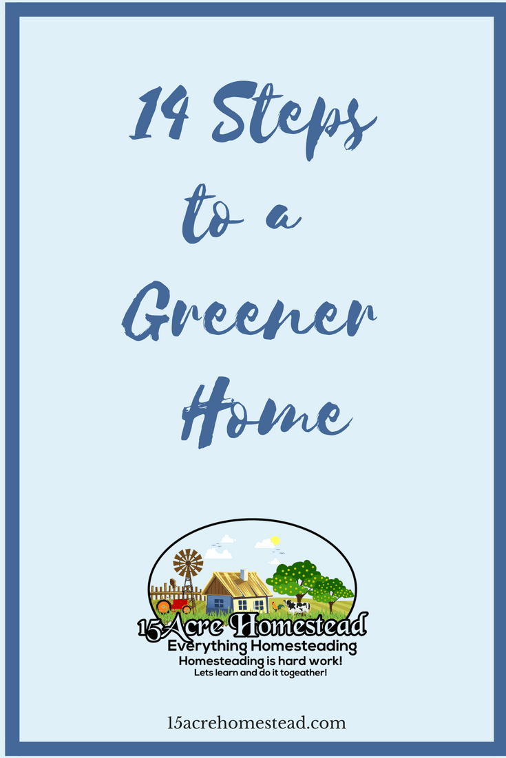 There are 14 simple steps to having a greener home.