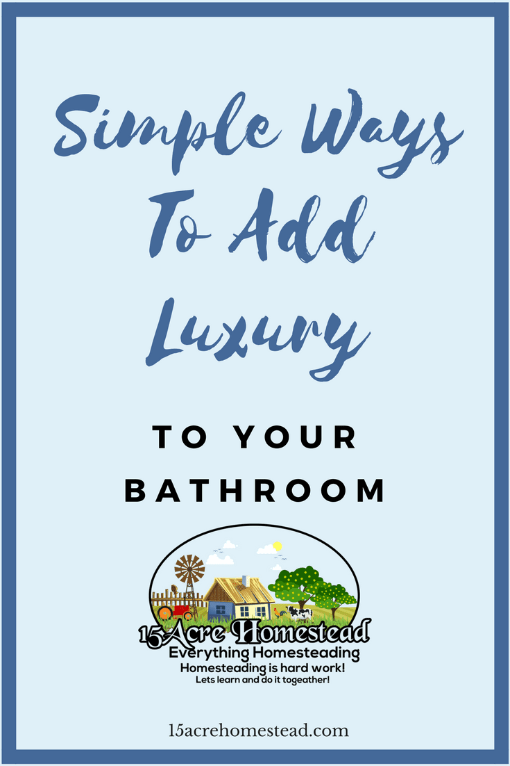 There are many simple ways of adding a luxury touch to your bathroom. From the lighting and the scents, you include to the decor you place there, you can make your bathroom luxurious easily.