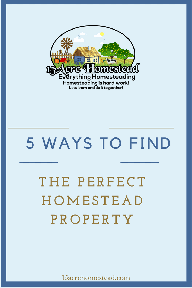There are many ways to find your perfect homestead property. Here are 5 simple ways to help the process go smoother.