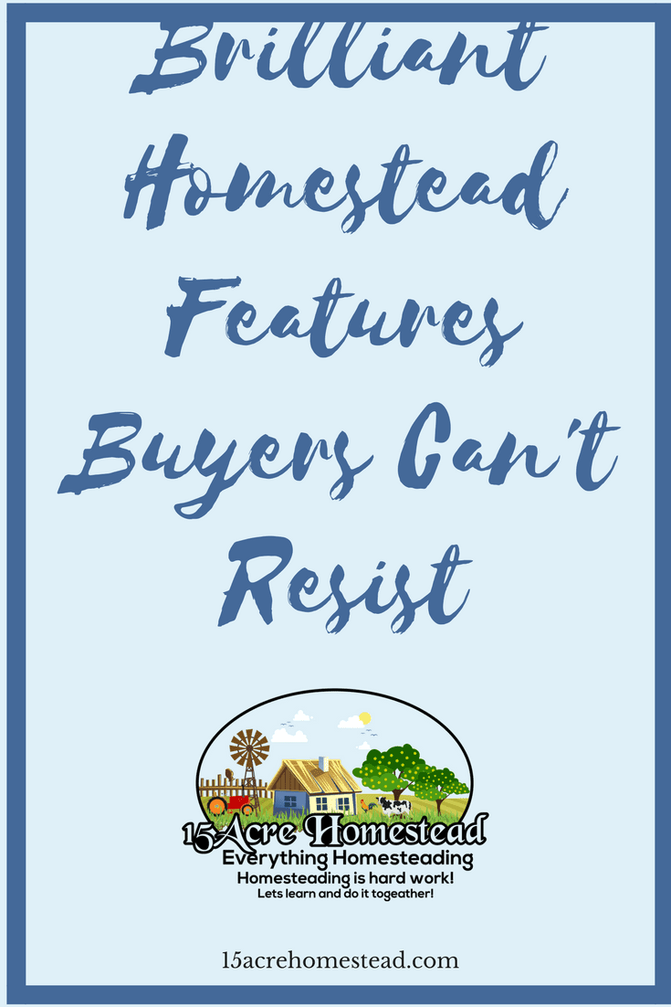Use these homestead features to make a property that buyers simple can't resist.