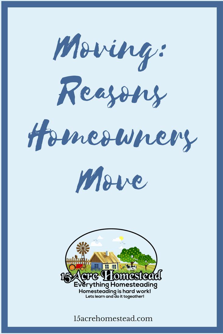 reasons homeowners move