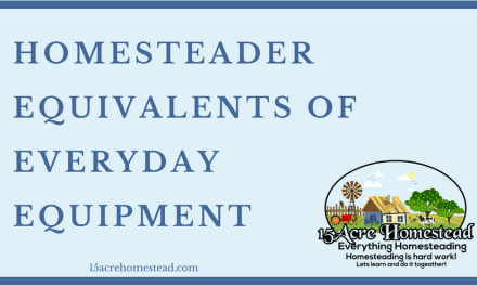 Homesteader Equivalents Of Everyday Equipment