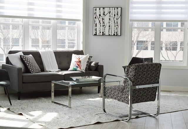 ideal look- declutered room
