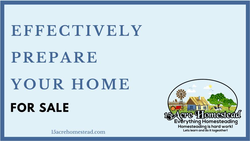 prepare you home for sale