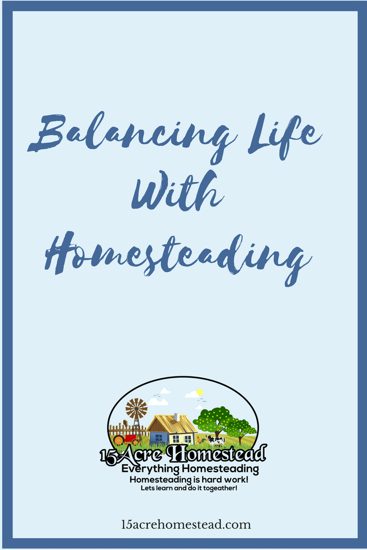 Balancing life while homesteading isn't easy, however with the right planning and goals it can be accomplished.