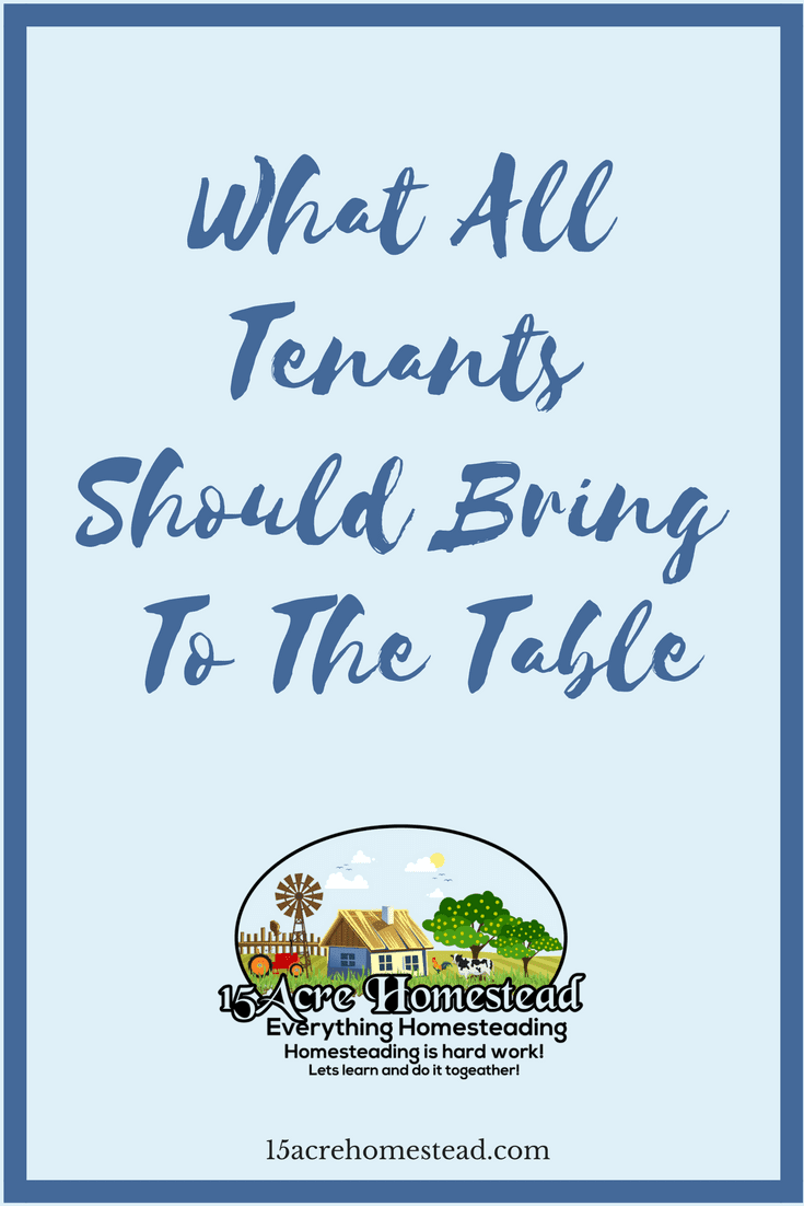 Just like being a landlord, tenants have certain responsibilities too.