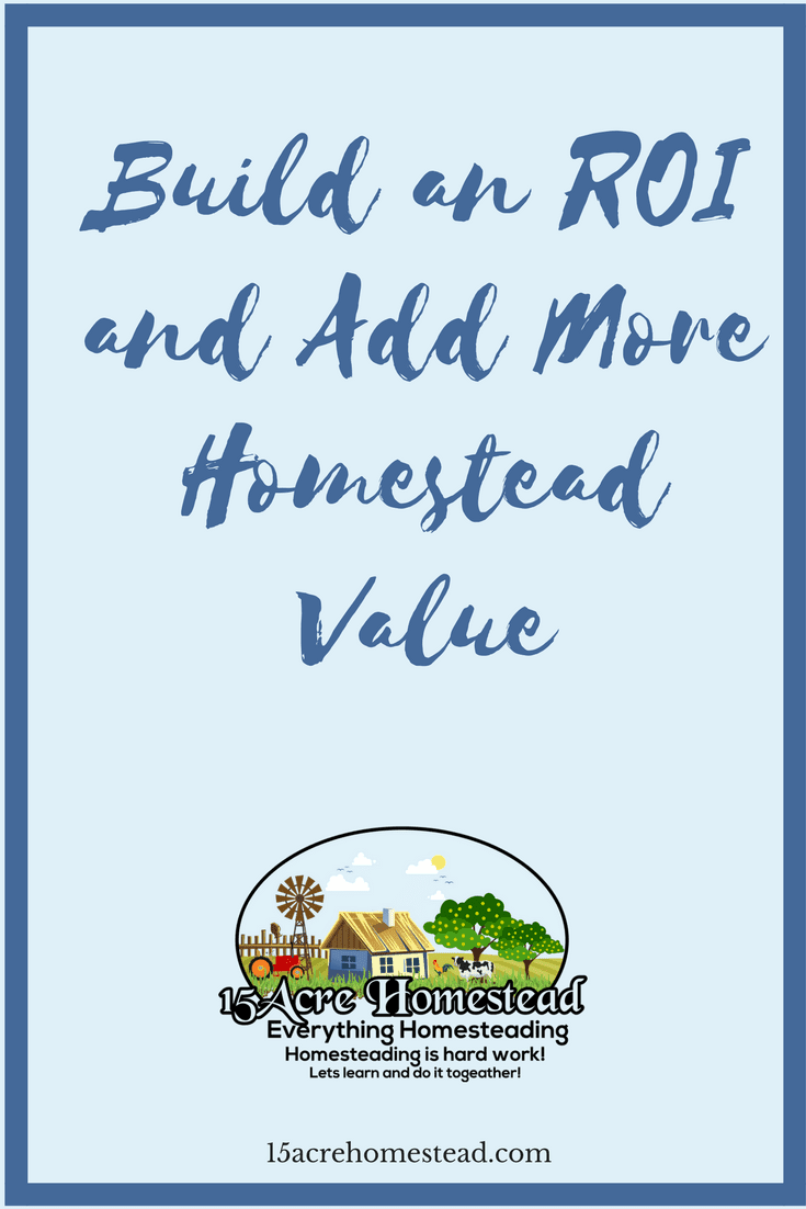 With the right steps, you can make sure that you get a fantastic ROI when it's time to sell. To do this, you need to add more homestead value to the property.