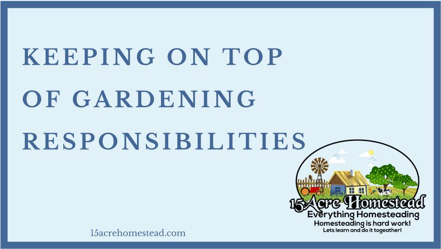 gardening responsibilities