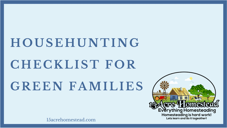 househunting checklist