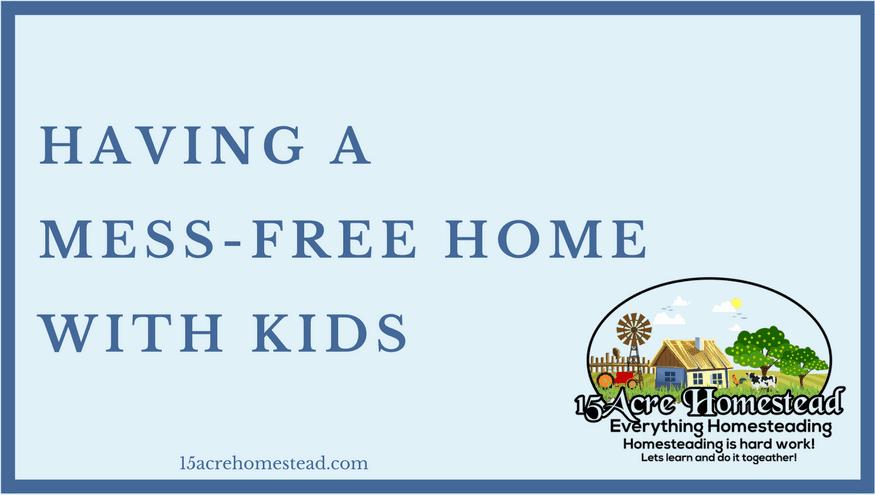 mess-free home